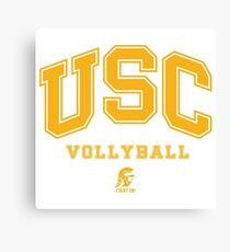 USC Vollyball Fight ON Canvas Print