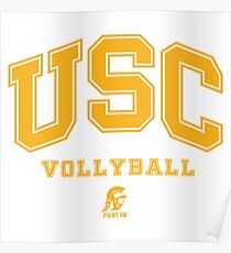 USC Vollyball Fight ON Poster