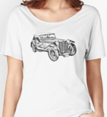 Mg Tc Antique Car Illustration Women's Relaxed Fit T-Shirt