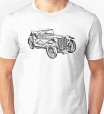 Mg Tc Antique Car Illustration Unisex T-Shirt