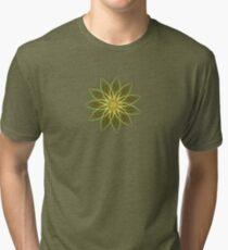 Fractal Flower-Yellow / Earthtones -geometric art Tri-blend T-Shirt