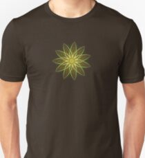 Fractal Flower-Yellow / Earthtones -geometric art T-Shirt