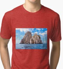 The faraglioni of Capri Island, Italy Tri-blend T-Shirt