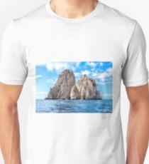 The faraglioni of Capri Island, Italy T-Shirt