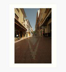 Denia, Spain Streetscape Art Print