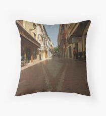 Denia, Spain Streetscape Throw Pillow