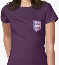 Winter Guard Watercolor Pocket Womens Fitted T-Shirt