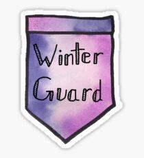 Winter Guard Watercolor Pocket Sticker