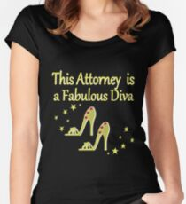 GORGEOUS GOLD FABULOUS ATTORNEY DESIGN Women's Fitted Scoop T-Shirt