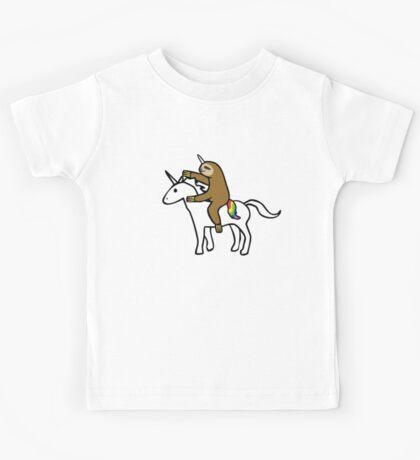 Slothicorn Riding Unicorn Kids Clothes