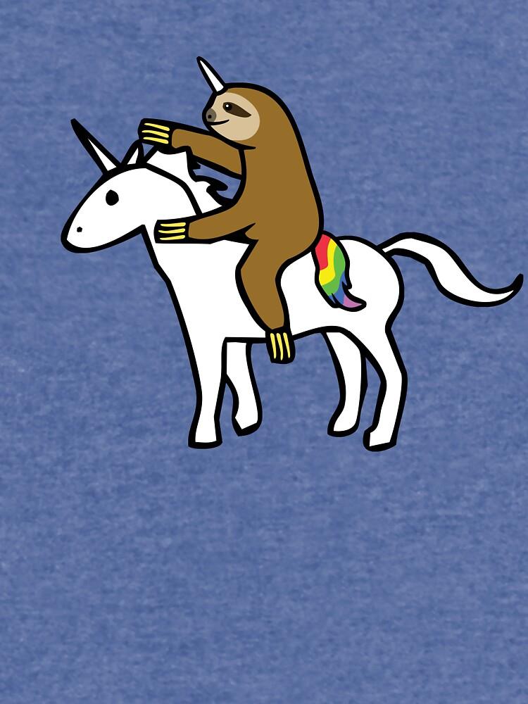 Slothicorn Riding Unicorn by jezkemp