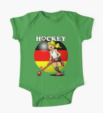 Hockey lady of the German field hockey team One Piece - Short Sleeve