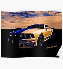 Mustang GT 500 Ready for Mustangs Across America Drive Poster