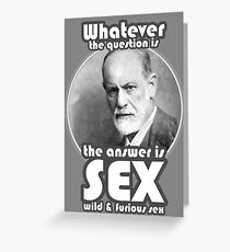 The answer is sex Greeting Card