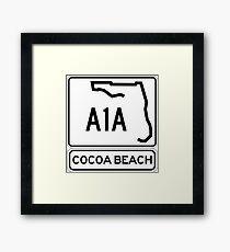 A1A - Cocoa Beach Framed Print