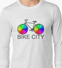Bike City Concept Illustration Long Sleeve T-Shirt