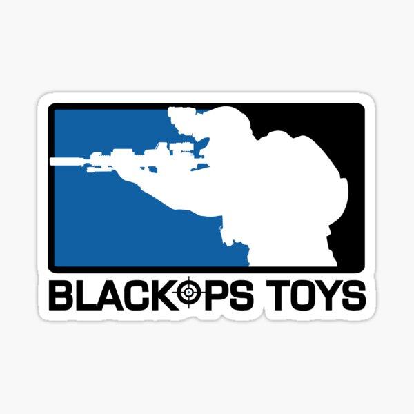 Blue and Black BlackOpsToys Logo Sticker