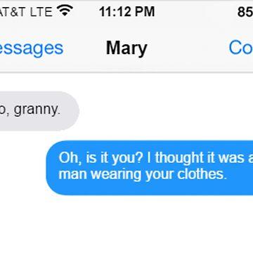 Dowager Texts: Granny burns Mary  by jackiekeating