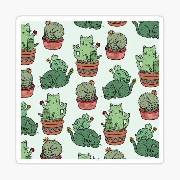 Cactus Cats Sticker