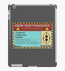 Know your paradoxes! iPad Case/Skin