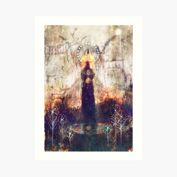 Heagorúna (Mystery) – Keepers of ancient land magick… Art Print