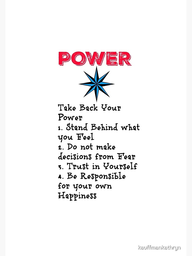 TAKE BACK YOUR PERSONAL POWER by kauffmankathryn