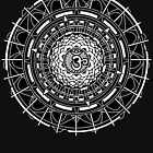 Mandala Om (white) Sacred Geometry Mandala by Leah McNeir