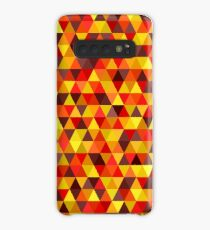 Bright Triangle Pattern In Autumn Colors Case/Skin for Samsung Galaxy