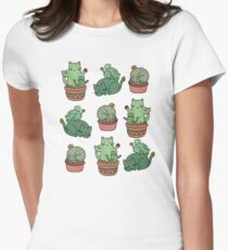 Cactus Cats Womens Fitted T-Shirt