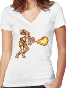 Dhalsim Women's Fitted V-Neck T-Shirt