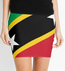 St. Kitts und Nevis Flagge Minirock