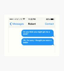 Dowager Texts: Dowager burns Robert  Art Print