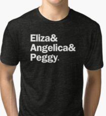 Hamilton - Eliza & Angelica & Peggy | Black Tri-blend T-Shirt