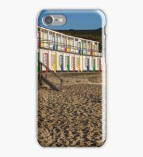 Porthgwidden beach huts, St Ives, Cornwall iPhone Case/Skin
