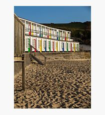 Porthgwidden beach huts, St Ives, Cornwall Photographic Print