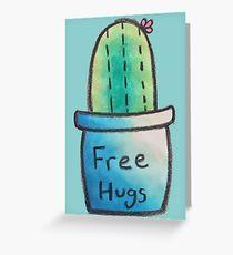 Cactus Just Wants Hugs Greeting Card