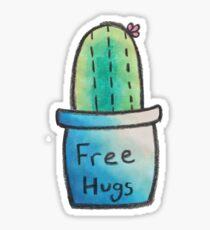 Cactus Just Wants Hugs Sticker