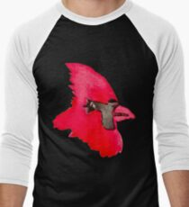 Cardinal - Watercolor  Men's Baseball ¾ T-Shirt
