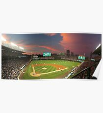 Wrigley Field at Night Poster