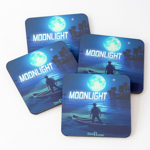 'Moonlight' Art Work Coasters (Set of 4)