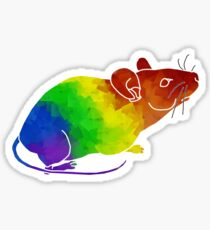 Rainbow Mouse Sticker