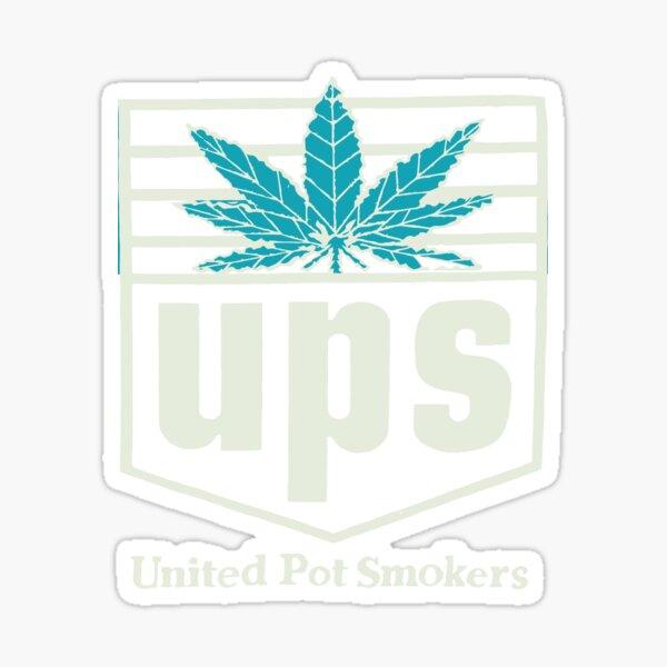 Ups United Pot Smokers Marijuana Weed Sticker
