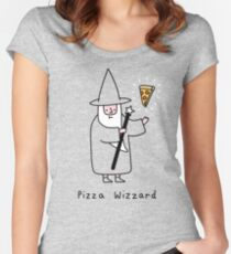 Pizza Wizzard Women's Fitted Scoop T-Shirt