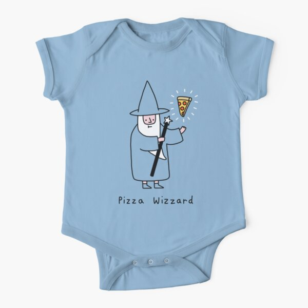 Pizza Wizzard Short Sleeve Baby One-Piece