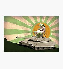 Frogs Love Tanks Photographic Print