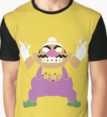 Pixel Silhouette: Wario Graphic T-Shirt