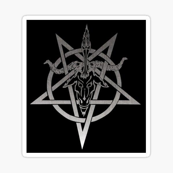 Atheistic Satanism (grey) Sticker