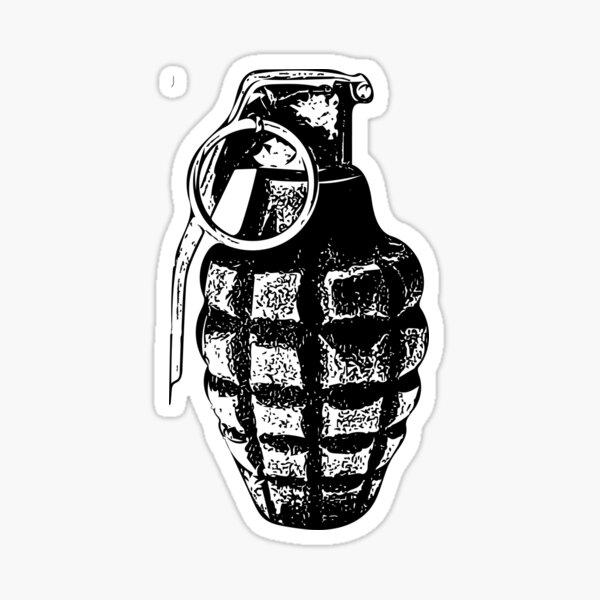 Hand Grenade Sticker