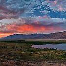 Eastern Sierra Sunset by Cat Connor
