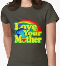 Love Your Mother (Vintage Distressed Design) Womens Fitted T-Shirt